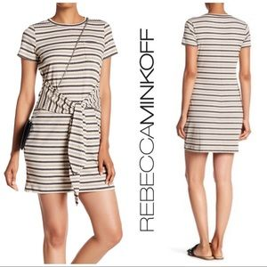 Rebecca Minkoff Mary Tie Waist Knit T-shirt Stripe
